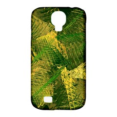 Green And Gold Abstract Samsung Galaxy S4 Classic Hardshell Case (pc+silicone) by linceazul