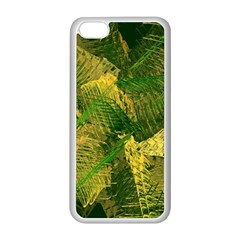 Green And Gold Abstract Apple Iphone 5c Seamless Case (white) by linceazul