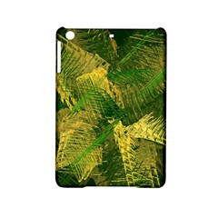 Green And Gold Abstract Ipad Mini 2 Hardshell Cases by linceazul