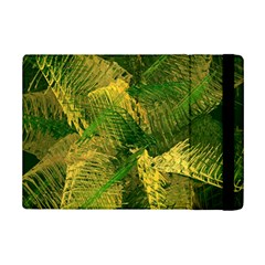 Green And Gold Abstract Ipad Mini 2 Flip Cases by linceazul