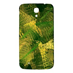 Green And Gold Abstract Samsung Galaxy Mega I9200 Hardshell Back Case by linceazul