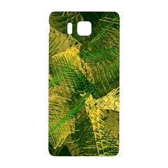 Green And Gold Abstract Samsung Galaxy Alpha Hardshell Back Case by linceazul
