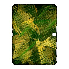 Green And Gold Abstract Samsung Galaxy Tab 4 (10 1 ) Hardshell Case  by linceazul