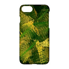 Green And Gold Abstract Apple Iphone 7 Hardshell Case by linceazul