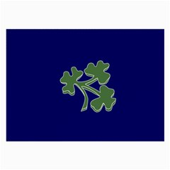 Flag Of Ireland Cricket Team Large Glasses Cloth (2 Side) by abbeyz71
