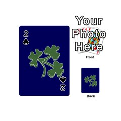 Flag Of Ireland Cricket Team Playing Cards 54 (mini)  by abbeyz71