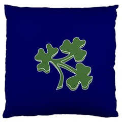Flag Of Ireland Cricket Team Large Flano Cushion Case (one Side) by abbeyz71