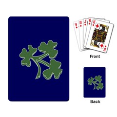 Flag Of Ireland Cricket Team  Playing Card by abbeyz71