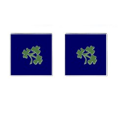 Flag Of Ireland Cricket Team  Cufflinks (square) by abbeyz71