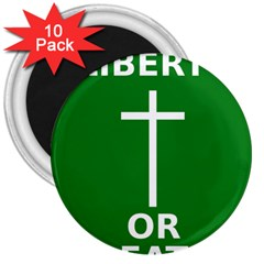 Battle Of Arklow Flag 3  Magnets (10 Pack)  by abbeyz71