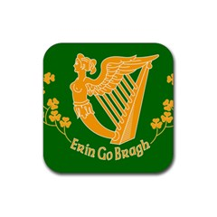 Erin Go Bragh Banner Rubber Square Coaster (4 Pack)