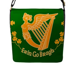 Erin Go Bragh Banner Flap Messenger Bag (l)  by abbeyz71