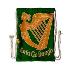 Erin Go Bragh Banner Drawstring Bag (small) by abbeyz71