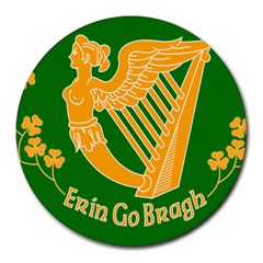 Erin Go Bragh Banner Round Mousepads by abbeyz71
