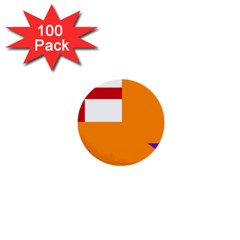 Flag Of The Orange Order 1  Mini Buttons (100 Pack)  by abbeyz71