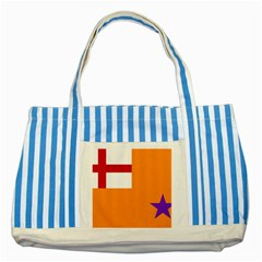 Flag Of The Orange Order Striped Blue Tote Bag by abbeyz71