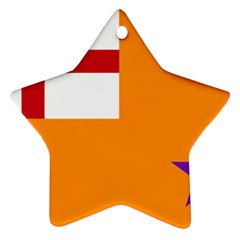 Flag Of The Orange Order Star Ornament (two Sides) by abbeyz71
