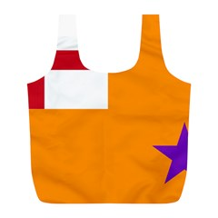Flag Of The Orange Order Full Print Recycle Bags (l)