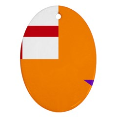 Flag Of The Orange Order Ornament (oval) by abbeyz71