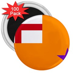 Flag Of The Orange Order 3  Magnets (100 Pack) by abbeyz71