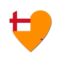 Flag Of The Orange Order Heart Magnet by abbeyz71