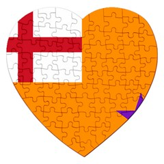Flag Of The Orange Order Jigsaw Puzzle (heart) by abbeyz71