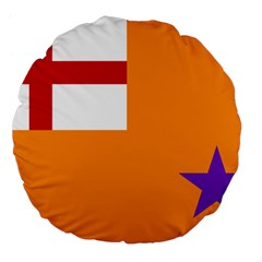 Flag Of The Orange Order Large 18  Premium Flano Round Cushions by abbeyz71
