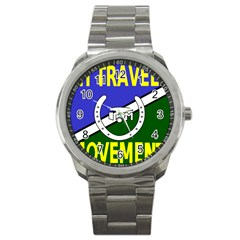 Flag Of The Irish Traveller Movement Sport Metal Watch by abbeyz71