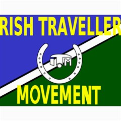 Flag Of The Irish Traveller Movement Canvas 12  X 16   by abbeyz71