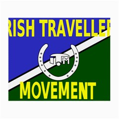 Flag Of The Irish Traveller Movement Small Glasses Cloth (2 Side) by abbeyz71