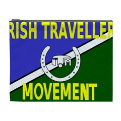 Flag Of The Irish Traveller Movement Cosmetic Bag (xl) by abbeyz71