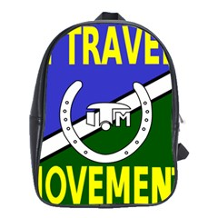 Flag Of The Irish Traveller Movement School Bags(large)  by abbeyz71