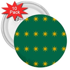 32 Stars Fenian Flag 3  Buttons (10 Pack)  by abbeyz71