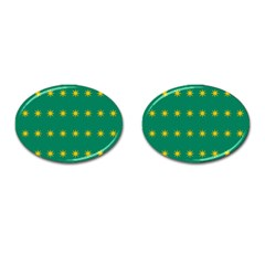 32 Stars Fenian Flag Cufflinks (oval) by abbeyz71