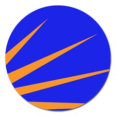 Sunburst Flag Magnet 5  (round) by abbeyz71
