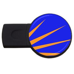 Sunburst Flag Usb Flash Drive Round (2 Gb) by abbeyz71
