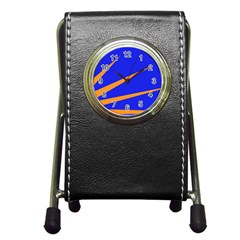 Sunburst Flag Pen Holder Desk Clocks by abbeyz71
