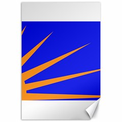 Sunburst Flag Canvas 24  X 36  by abbeyz71