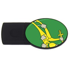 Starry Plough Flag  Usb Flash Drive Oval (4 Gb)