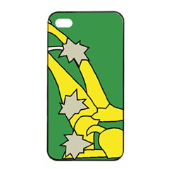 Starry Plough Flag  Apple Iphone 4/4s Seamless Case (black) by abbeyz71