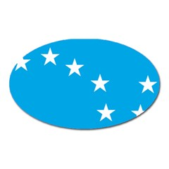 Starry Plough Flag Oval Magnet by abbeyz71
