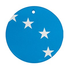 Starry Plough Flag Round Ornament (two Sides) by abbeyz71