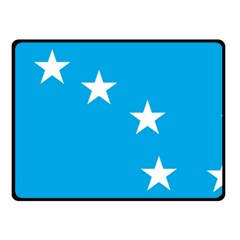 Starry Plough Flag Double Sided Fleece Blanket (small)  by abbeyz71