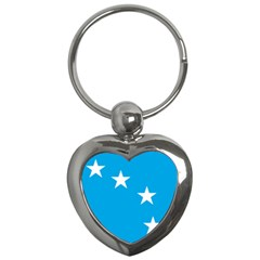 Starry Plough Flag Key Chains (heart)  by abbeyz71