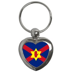 Flag Of The Ulster Nation Key Chains (heart)  by abbeyz71