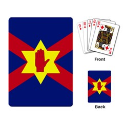 Flag Of The Ulster Nation Playing Card by abbeyz71