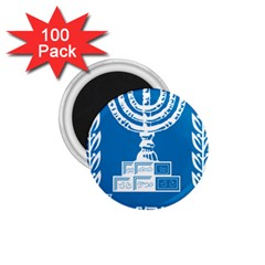 Emblem Of Israel 1 75  Magnets (100 Pack)  by abbeyz71