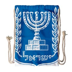 Emblem Of Israel Drawstring Bag (large) by abbeyz71
