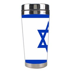 Flag Of Israel Stainless Steel Travel Tumblers by abbeyz71
