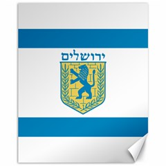 Flag Of Jerusalem Canvas 11  X 14   by abbeyz71